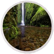 The River Rocks Round Beach Towel by Jonathan Davison