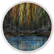 Round Beach Towel featuring the digital art The River Side by Darren Cannell