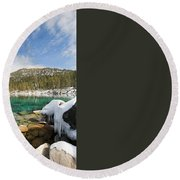 Round Beach Towel featuring the photograph The Road Less Traveled by Sean Sarsfield