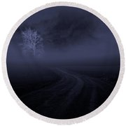 Round Beach Towel featuring the photograph The Road by Robert Geary