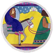 The Road To Bethlehem Round Beach Towel