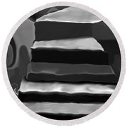 The Road To Despair Round Beach Towel