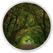 The Road To Heven  Round Beach Towel