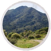 The Road To Tamalpais Round Beach Towel