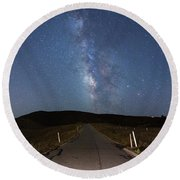 The Road To The Milky Way Round Beach Towel