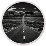The Road To The West Round Beach Towel