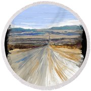 The Road Trip Round Beach Towel