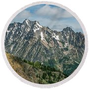The Rock At Mount Stuart Round Beach Towel