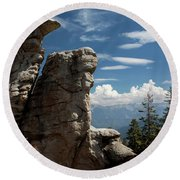 The Rock Formation Round Beach Towel