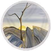 The Rock Garden Round Beach Towel by Pat Purdy