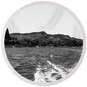 The Rock Of Guatape Round Beach Towel