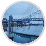 The Roebling Reflected Round Beach Towel