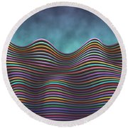 The Rolling Hills Of Subtle Differences Round Beach Towel
