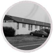 The Rolling Stones' Memory Motel Montauk New York Round Beach Towel