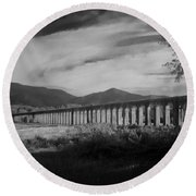The Roman Aqueducts Round Beach Towel