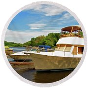The Rondout At Eddyville Round Beach Towel