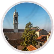 The Roofs Of Venice Round Beach Towel