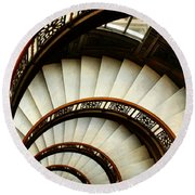 The Rookery Spiral Staircase Round Beach Towel