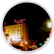 The Roosevelt Hotel By David Pucciarelli  Round Beach Towel
