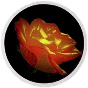 The Rose 3 Round Beach Towel