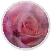 The Rose And The Sea Round Beach Towel by Wallaroo Images