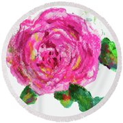 The Rose Round Beach Towel by Beth Saffer