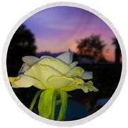 The Rose Round Beach Towel by Chris Tarpening