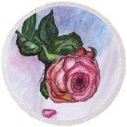 The Rose Round Beach Towel by Clyde J Kell