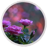 Round Beach Towel featuring the photograph The Roses by Lance Sheridan-Peel