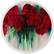 The Roses Of My Summer Round Beach Towel