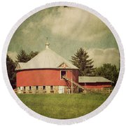 The Round Barn Round Beach Towel by Joel Witmeyer