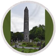 Round Beach Towel featuring the photograph The Round Tower. by Terence Davis