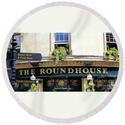 The Roundhouse Pub Bath England Round Beach Towel