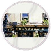 The Roundhouse Pub Bath England Round Beach Towel