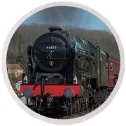 The Royal Scot 1 Round Beach Towel