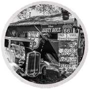 The Rusty Bolt Round Beach Towel by Anthony Sacco