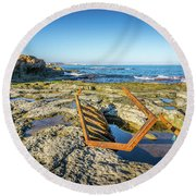 The Rusty Steps Round Beach Towel
