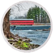 Round Beach Towel featuring the photograph The Sachs by Mark Dodd