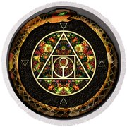 The Sacred Alchemy Of Life Round Beach Towel