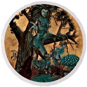The Sacred Waters Round Beach Towel