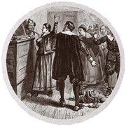 The Salem Witch Trials Round Beach Towel