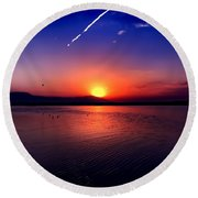 The Salton Sea Round Beach Towel by Chris Tarpening