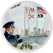 The Salute Round Beach Towel