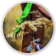 Round Beach Towel featuring the photograph The Samba Dancer by Chris Lord