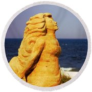 The Sand Sculpture Round Beach Towel by Bob Pardue