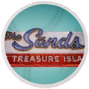 The Sands Round Beach Towel by Jerry Golab