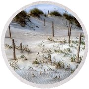 The Sands Of Obx Hdr II Round Beach Towel