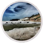 The Scala Dei Turchi II Round Beach Towel