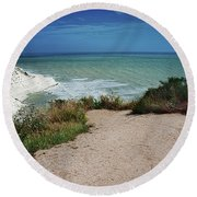 The Scala Dei Turchi Round Beach Towel