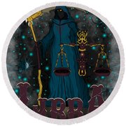 The Scale Libra Spirit Round Beach Towel